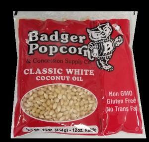 12 oz White Popcorn Kits, 24/case