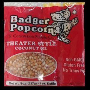 6 oz Coconut Oil BP Popcorn Kit, 36/case