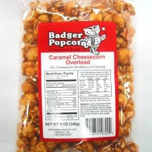 Badger 5 oz Caramel Cheesecorn Overload, 24/Case