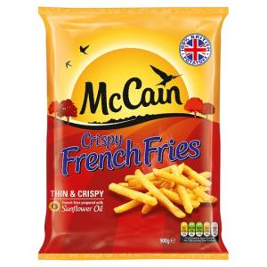 """French Fries, McCain Extra Crispy 3/8""""Long, 6 - 5 lb Bags/Case"""