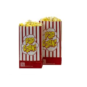 Striped Single Ply Popcorn Bags